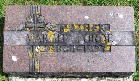 FORDE, MARGIT - Winneshiek County, Iowa | MARGIT FORDE