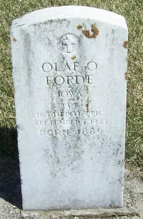 FORDE, OLAF O - Winneshiek County, Iowa | OLAF O FORDE