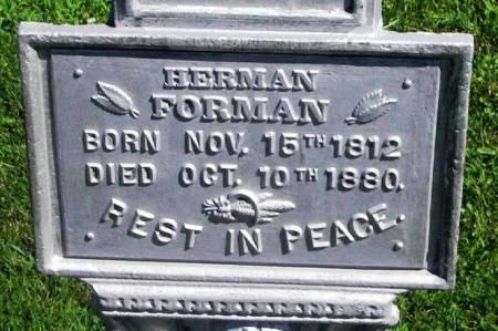 FORMAN, HERMAN - Winneshiek County, Iowa   HERMAN FORMAN