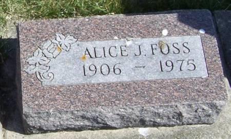 FOSS, ALICE J - Winneshiek County, Iowa | ALICE J FOSS