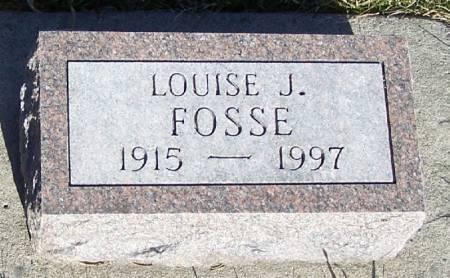 FOSSE, LOUISE J - Winneshiek County, Iowa   LOUISE J FOSSE