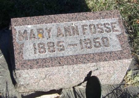 FOSSE, MARY ANN - Winneshiek County, Iowa   MARY ANN FOSSE