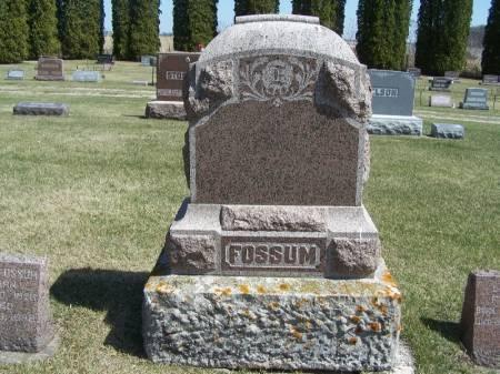 FOSSUM, LARS FAMILY STONE - Winneshiek County, Iowa | LARS FAMILY STONE FOSSUM