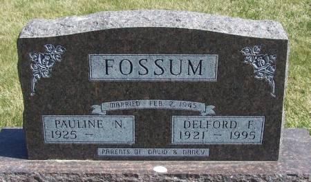 FOSSUM, DELFORD F - Winneshiek County, Iowa   DELFORD F FOSSUM