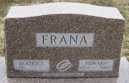 FRANA, EDWARD A. - Winneshiek County, Iowa   EDWARD A. FRANA