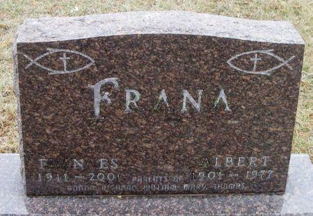 FRANA, ALBERT - Winneshiek County, Iowa   ALBERT FRANA