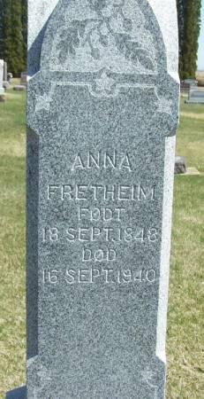 FRETHEIM, ANNA - Winneshiek County, Iowa | ANNA FRETHEIM