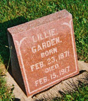GARDEN, LILLIE - Winneshiek County, Iowa   LILLIE GARDEN