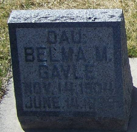 GAVLE, BELMA M - Winneshiek County, Iowa | BELMA M GAVLE
