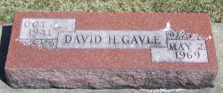 GAVLE, DAVID H - Winneshiek County, Iowa   DAVID H GAVLE