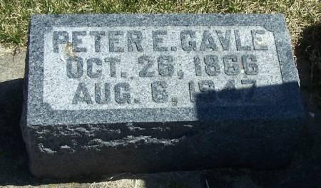 GAVLE, PETER E - Winneshiek County, Iowa   PETER E GAVLE
