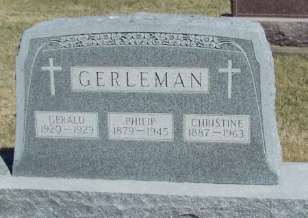 GERLEMAN, CHRISTINE - Winneshiek County, Iowa   CHRISTINE GERLEMAN
