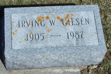 GIESEN, IRVING W - Winneshiek County, Iowa   IRVING W GIESEN