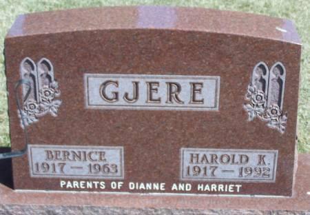 GJERE, BERNICE - Winneshiek County, Iowa   BERNICE GJERE