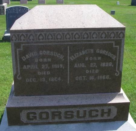 GORSUCH, ELIZABETH - Winneshiek County, Iowa | ELIZABETH GORSUCH
