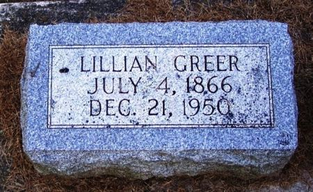 GREER, LILLIAN - Winneshiek County, Iowa | LILLIAN GREER