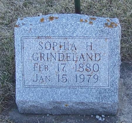 GRINDELAND, SOPHIA H - Winneshiek County, Iowa   SOPHIA H GRINDELAND
