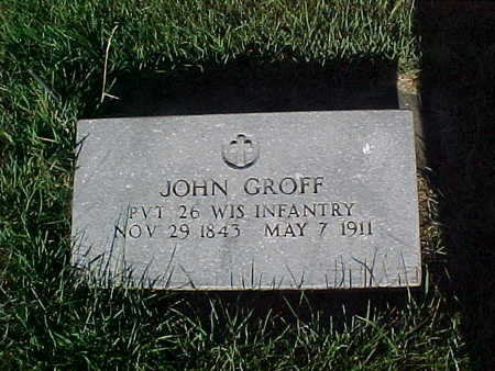 GROFF, JOHN - Winneshiek County, Iowa | JOHN GROFF