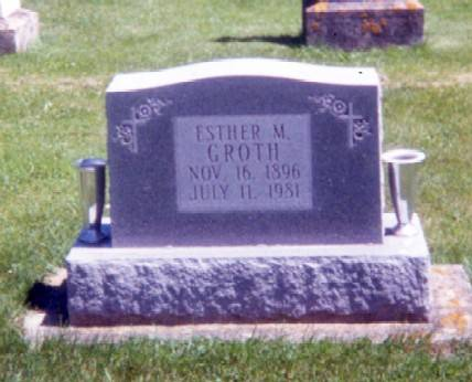 GROTH, ESTHER M. - Winneshiek County, Iowa | ESTHER M. GROTH