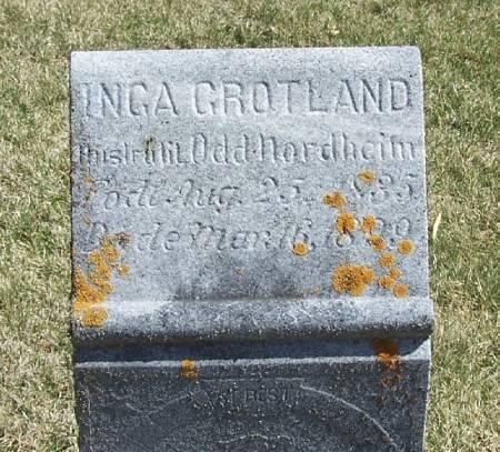 NORDHEIM, INGA GROTLAND - Winneshiek County, Iowa   INGA GROTLAND NORDHEIM