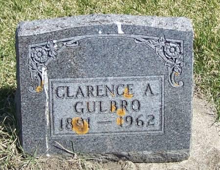GULBRO, CLARENCE A - Winneshiek County, Iowa   CLARENCE A GULBRO