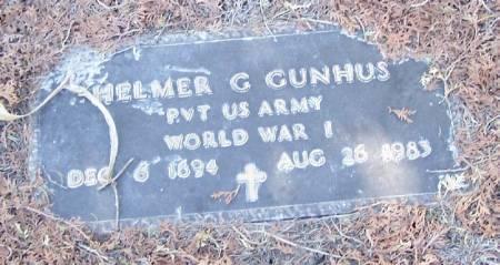 GUNHUS, HELMER G - Winneshiek County, Iowa   HELMER G GUNHUS