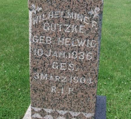 GUTZKE, WILHELMINE F. - Winneshiek County, Iowa | WILHELMINE F. GUTZKE