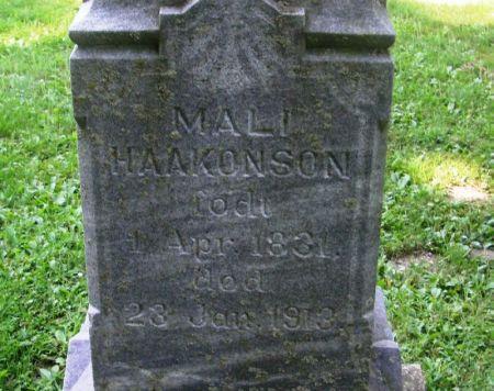 HAAKONSON, MALI - Winneshiek County, Iowa   MALI HAAKONSON