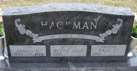 HACKMAN, JAMES E. - Winneshiek County, Iowa | JAMES E. HACKMAN