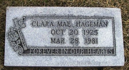 HAGEMAN, CLARA MAE - Winneshiek County, Iowa   CLARA MAE HAGEMAN