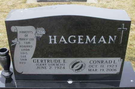 HAGEMAN, CONRAD LINUS - Winneshiek County, Iowa   CONRAD LINUS HAGEMAN