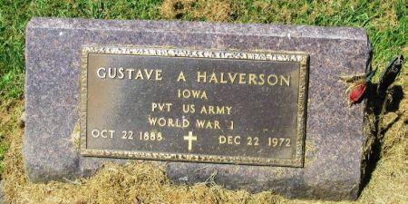 HALVERSON, GUSTAVE A. - Winneshiek County, Iowa   GUSTAVE A. HALVERSON