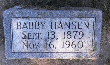 HANSEN, BABBY - Winneshiek County, Iowa | BABBY HANSEN