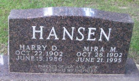 HANSEN, HARRY D. - Winneshiek County, Iowa   HARRY D. HANSEN
