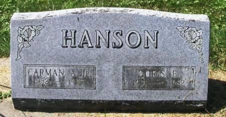 HANSON, DORIS E. - Winneshiek County, Iowa   DORIS E. HANSON