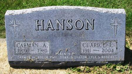 HANSON, CARMAN A. - Winneshiek County, Iowa   CARMAN A. HANSON