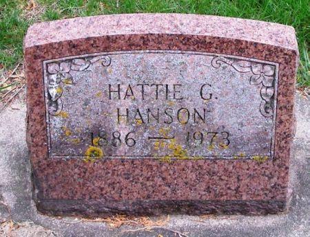 HANSON, HATTIE G. - Winneshiek County, Iowa   HATTIE G. HANSON