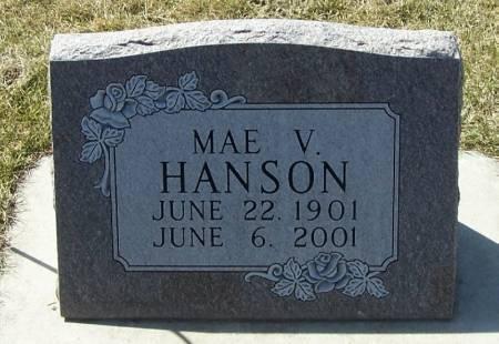 HANSON, MAE V - Winneshiek County, Iowa   MAE V HANSON