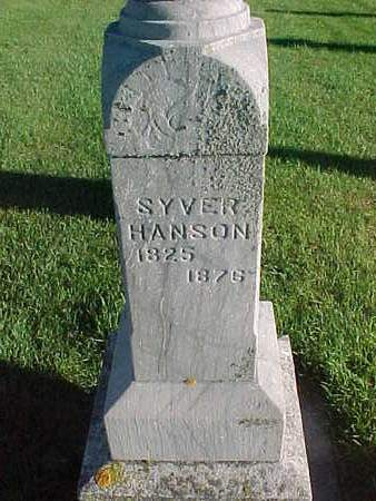 HANSON, SYVER - Winneshiek County, Iowa   SYVER HANSON