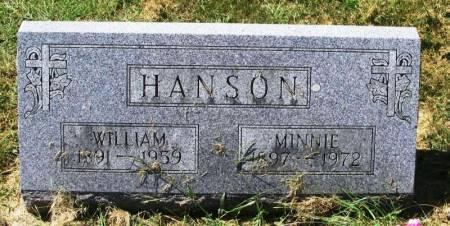 HANSON, MINNIE - Winneshiek County, Iowa   MINNIE HANSON
