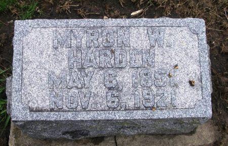 HARDEN, MYRON W. - Winneshiek County, Iowa | MYRON W. HARDEN