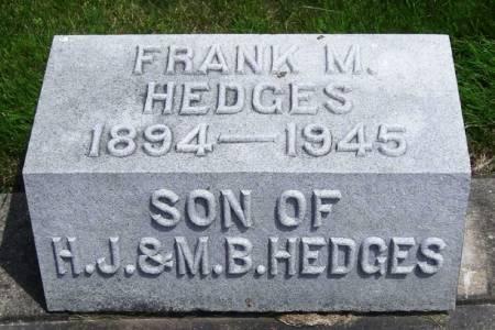 HEDGES, FRANK M. - Winneshiek County, Iowa | FRANK M. HEDGES