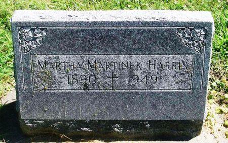 MARTINEK HARRIS, MARTHA - Winneshiek County, Iowa   MARTHA MARTINEK HARRIS