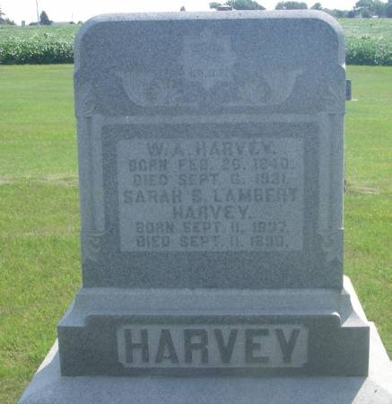 LAMBERT HARVEY, SARAH - Winneshiek County, Iowa | SARAH LAMBERT HARVEY
