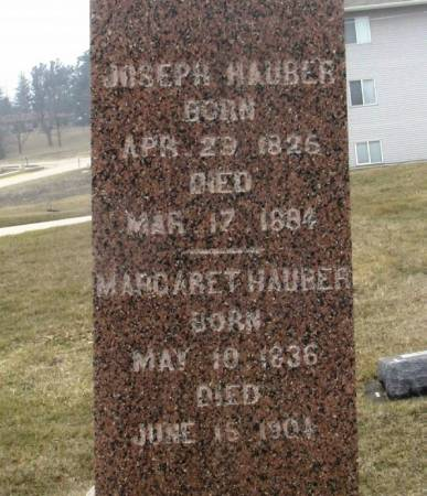 HAUBER, JOSEPH - Winneshiek County, Iowa   JOSEPH HAUBER