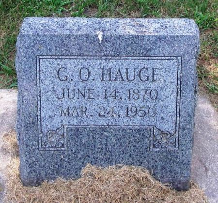 HAUGE, G. O. - Winneshiek County, Iowa | G. O. HAUGE