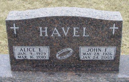 HAVEL, JOHN F. - Winneshiek County, Iowa   JOHN F. HAVEL
