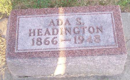 HEADINGTON, ADA S - Winneshiek County, Iowa | ADA S HEADINGTON