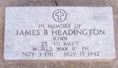 HEADINGTON, JAMES B - Winneshiek County, Iowa | JAMES B HEADINGTON