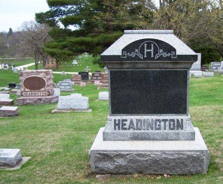 HEADINGTON, JACOB FAMILY STONE - Winneshiek County, Iowa | JACOB FAMILY STONE HEADINGTON